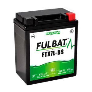 Fulbat Batterie moto Gel YTX7L-BS / FTX7L-BS 12V 6Ah
