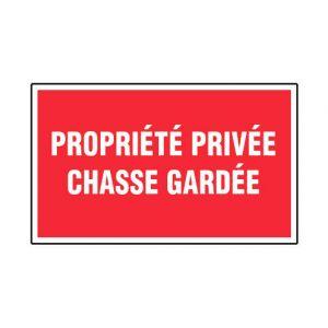 Novap Panneau Propriété privée chasse gardée - Rigide 330x200mm - 4160504