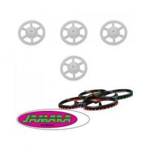 Jamara 038572 - Jeu de 4 engrenages, pignons, roues dentées, couronnes pour drone Flyscout