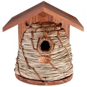 Esschert design Joli nichoir tressé pour petits oiseaux du jardin
