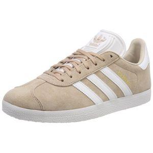 Adidas Gazelle W, Chaussures de Tennis Femme, Multicolore (Ashpea/Ftwwht/Linen B41660), 39 1/3 EU