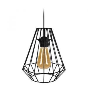 DIAMOND Suspension filaire en métal Ø 20 x H 80 cm Noir Ampoule LED comprise E27 40W