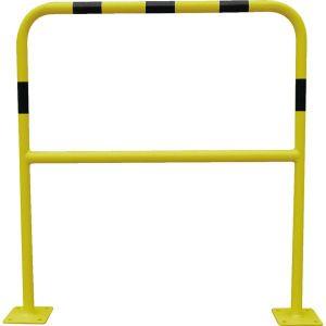 Viso BAR415NJ - Barrière de sécurité acier avec platine tube diamètre 40 mm noir et jaune 1500 x 1000 mm