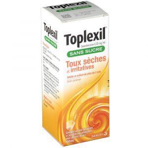 Sanofi Toplexil sans sucre Toux sèches