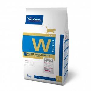 Virbac Hpm Diet pour chat W1 Weight Loss & Diabetes 3 kg