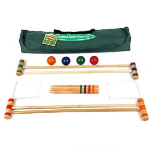 Traditional Garden Games Set de Croquet enfant en Bois