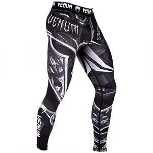 Venum Gladiator 3.0 Legging de Compression Homme, Noir/Blanc, FR : L (Taille Fabricant : L)