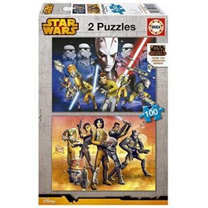 Educa Star Wars Rebels - Puzzle classique 2 x 100 pièces