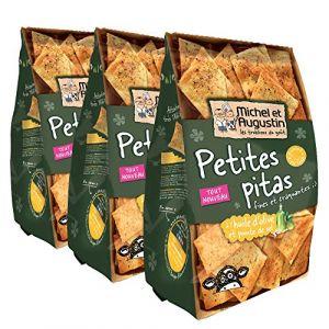 Michel et augustin Petites Pitas Fines/Craquantes Huile d'Olive Pointe Sel 90 g