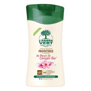 L'Arbre Vert Crème douche protecttrice aux extraits de fleurs de Cerisier Bio