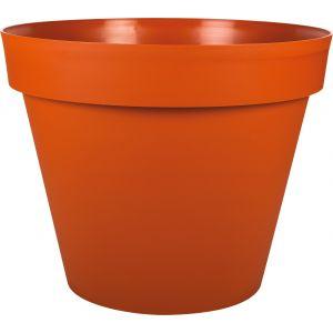 Eda Plastiques Pot gamme Toscane orange Ø 48 cm