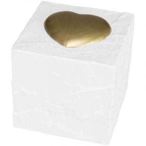 Trixie Cube tombale cube avec cŒur - 11x11x11cm - Blanc - Pour chien et chat