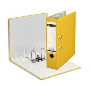 Leitz 1010-50-15 - Classeur à levier Plastique 180° A4, dos de 80, coloris jaune