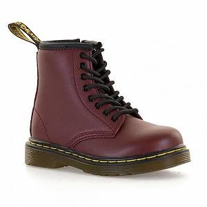 Dr. Martens Brooklee, Boots mixte enfant, Rosso (Cherry Red), 23 EU