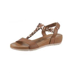 Tamaris 1-1-28231-22 Femme Sandale à lanières,Sandales,Sandales à lanières,Chaussures d'été,Confortable,Plat,Touch-IT,COGN./Rose MET,39 EU