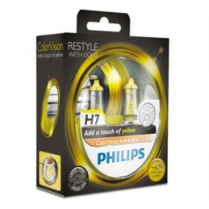Philips 2 Ampoules H7 ColorVision Jaune 60/55 W 12 V