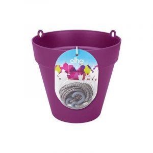 Loft URBAN Pot de fleur à suspendre - Ø20 cm - Cerise - Réservoir d'eau - Balustrades jusqu'à 6 cm de large - Charge maximale 4 kg - Recyclables - Résistant au gel