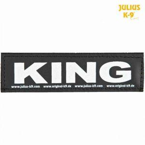 """Julius K9 Réflecteurs Sticker Velcro """"King"""""""
