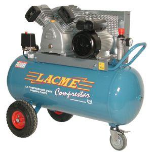 Lacme Comprestar 23 V 100 M - Compresseur à courroie monophasé 23 m³/h sur cuve 100 litres (128200)