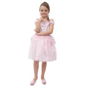 LGRI Déguisement princesse rose pale + bijoux