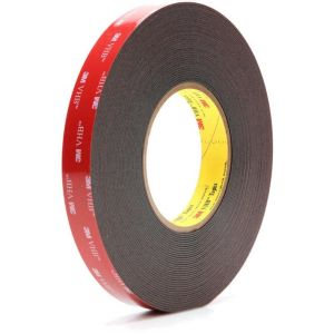 3M VHB Ruban adhésif, 5952 F, 19 mm x 11 m, 1.0 mm, Noir (Lot de 1)