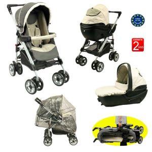 Bébé Achat Poussette 4 roues combinée 2 en 1 avec nacelle (système Clic & Go)