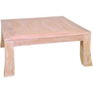 cm 80 Yoko Table teck80 en basse Design carrée x rtQsdhC