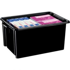 CEP Office Solutions Strata Jumbo Box 48.5 litres Noir