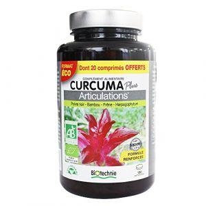 Biotechnie Curcuma Plus Articulations 180 comprimés