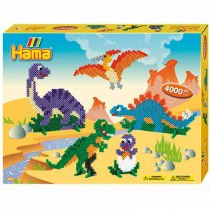 Hama 3144 - Midi Boîte Gm : Les Dinosaures (400 perles)