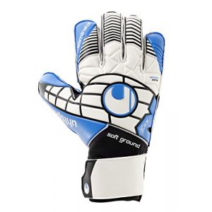 Uhlsport Eliminator Pro Gants de Gardien de But Blanc/Noir/Bleu Energy Taille 9