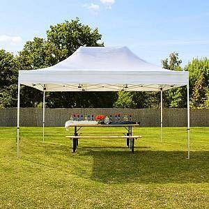 Intent24 Tente pliante 3x4,5 m sans bâches de côté blanc PROFESSIONAL tente pliable ALU pavillon barnum.FR