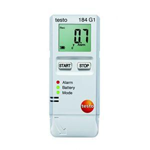 Testo 184 G1 Enregistreur de données multifonctions Unité de mesure température, humidité de lair, vibration /accélération -20 à +70 °C 0 à 100 % HR 0 à 10 G