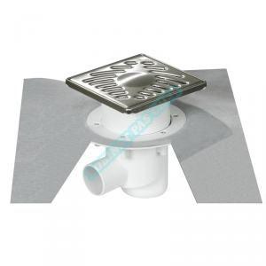 Nicoll Siphon sortie verticale 50/63 grille 15x15 inox SICA15IV