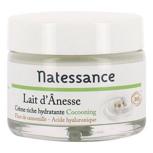 Natessance Crème riche hydratante lait d'ânesse bio 50ml