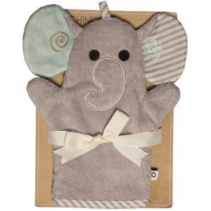 Zoocchini Gant de toilette marionnette Ellie l'éléphant