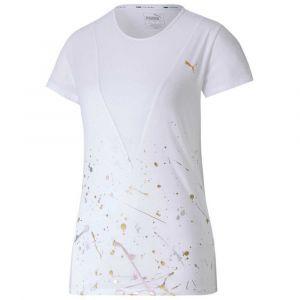 Puma Metal Splash Deep V W vêtement running femme Blanc - Taille S