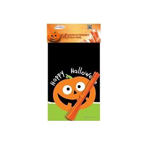 Dynastrib 50 sachets plastique à friandises Halloween