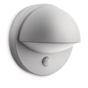 Philips June avec détecteur PIR 12W gris clair - Applique murale extérieure myGarden