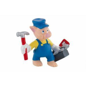Bullyland Figurine petit cochon bricoleur (Les Trois Petits Cochons)