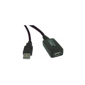 Rallonge USB 2.0 active (mâle/femelle) avec amplificateur et répéteur (20 mètres)