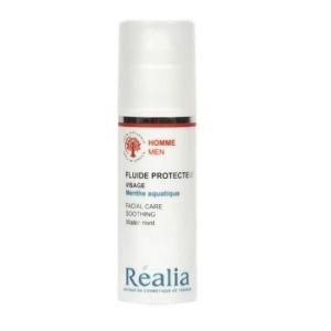 Réalia Homme - Fluide protecteur visage menthe aquatique