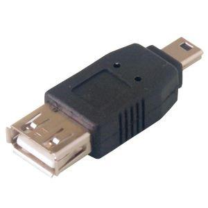 MCL Samar USB-AF/MU5M - Adaptateur USB A femelle / mini USB B mâle (5 broches)