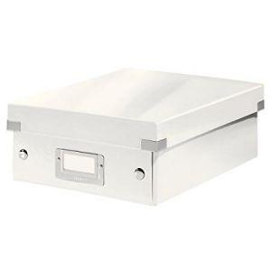 Leitz 6057-00-01 - Boîte de rangement Click & Store, petit format avec compartiments, en PP, coloris blanc perlé