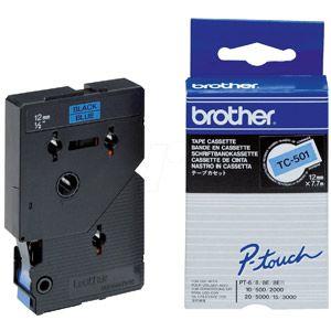 Brother TC-501 - Ruban d'étiquettes Noir Laminé 12 mm x 8 m