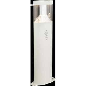 Globo Lighting Borne extérieure inox blanc - Plastique translucide - IP44 - Capteur : 90°