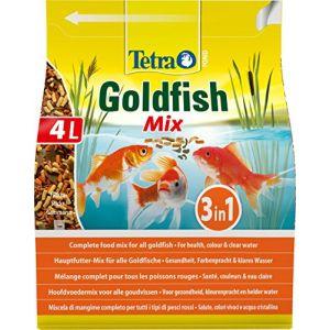 Tetra Pond Gold Mix 4L - Intensifie les couleurs naturelles grâce aux flocons de Spirulina