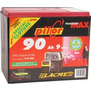 Lacme Pile Pilor 9V 90Ah pour électrificateur compact