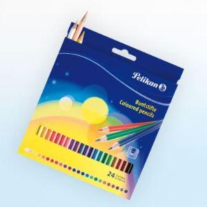 Pelikan 24 Crayons de couleur Standard
