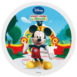 Dekora Disque de décoration en sucre Mickey Club House (16 cm)